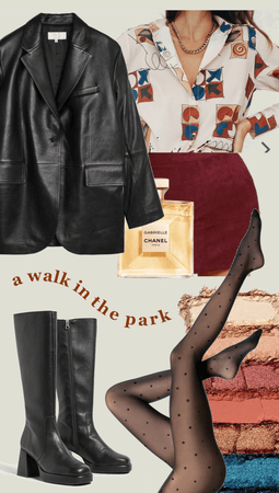 burgundy themed artsy outfit