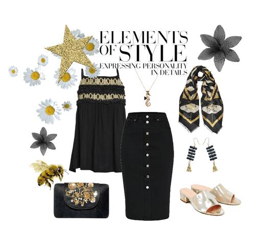 Black & Gold always classic summer look