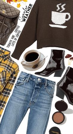 Coffee on my sweater