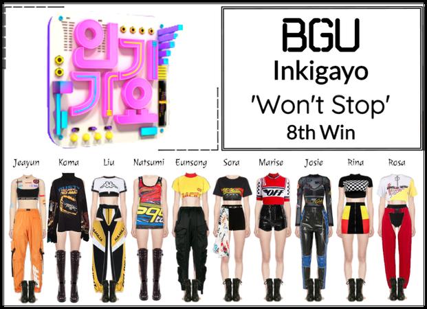 BGU Inkigayo 'Won't Stop' 8th Win