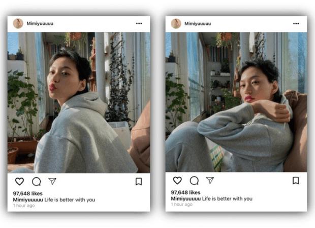라로그 [𝗟𝗮 𝗥𝗼𝘂𝗴𝗲] - MiU instagram post (11052021)