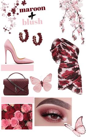 Maroon & Blush pink ❤️💕