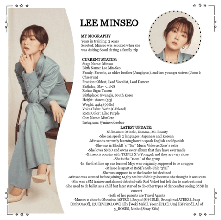 {RoSE} Minseo Re-Intro