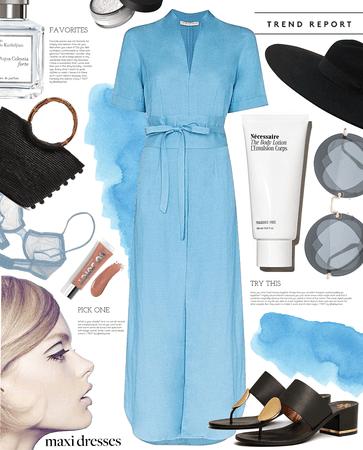 simply blue   simple summer dress