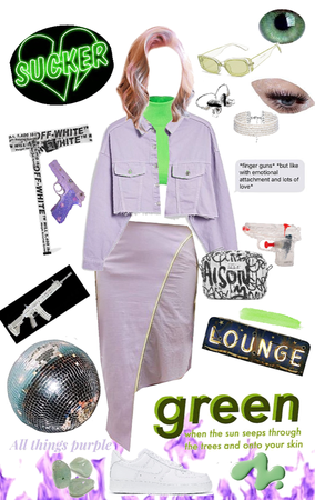 purple ang green