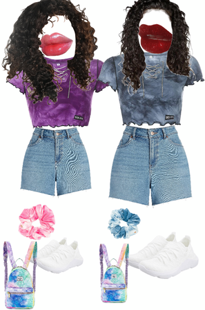 BFF outfit / pink or blue