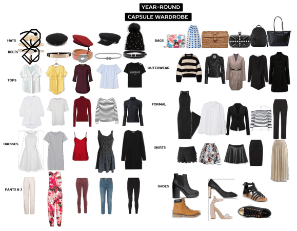 Year-round capsule wardrobe extended