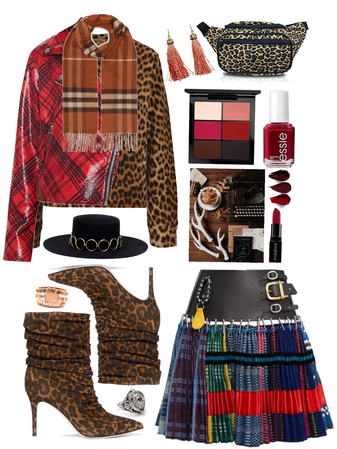 Fall First Look: Plaid And Leopard Print Combo