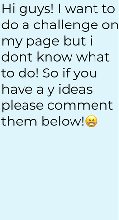 challenge ideas