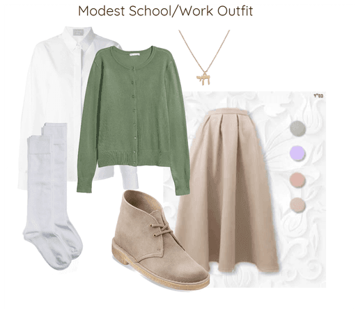 Modest School/Work Outfit