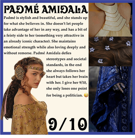 RATING MY FICTIONAL CHARACTER CRUSHES: Padmé Amidala