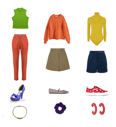 Triadic color outfits