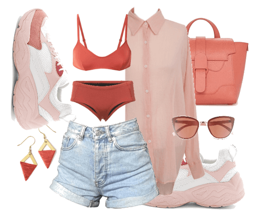 Living Coral & Baby Pink Street Style