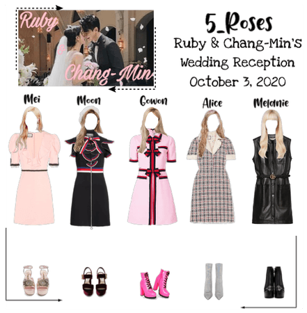 5roses attending Ruby&Chang-Min Wedding reception