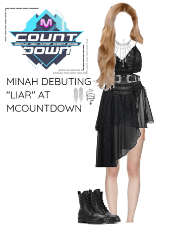 "Minah Debuting ""LIAR"" At MCOUNTDOWN"