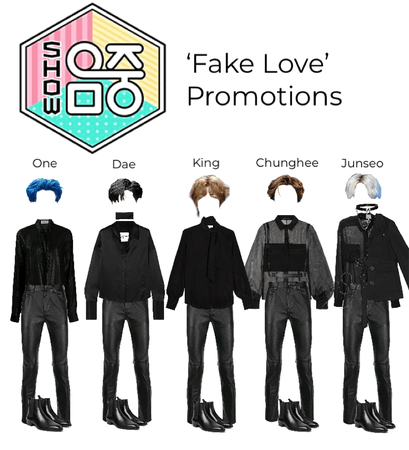 'Fake Love' The Show promotions