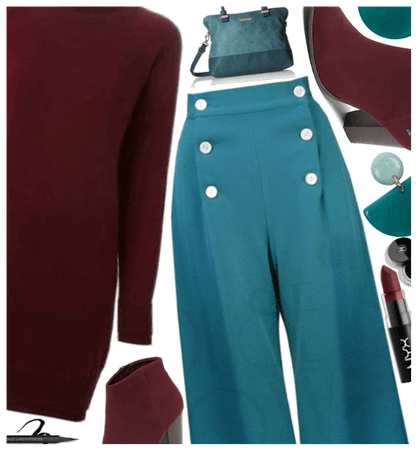 Burgundy and teal contest