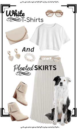 White T-Shirts and Pleated Skirts!