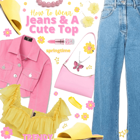 💛jeans and a cute top! 💓