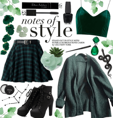 forest green / slytherin virgo