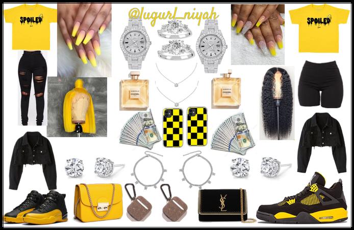 yellow/black baddie