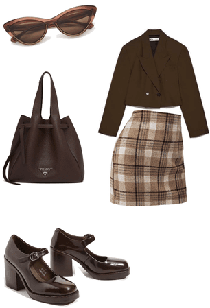 Classy Beige/Brown Business Outfit