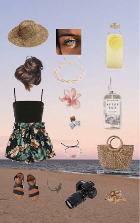 Beach Fit with Beach Background 🏖🌊🌺
