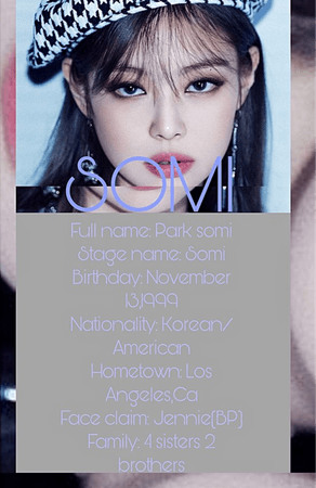 Dance mentor Somi profile @somi_official