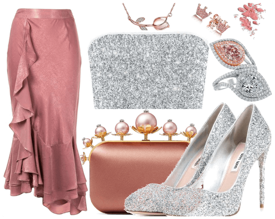 Blush and Silver