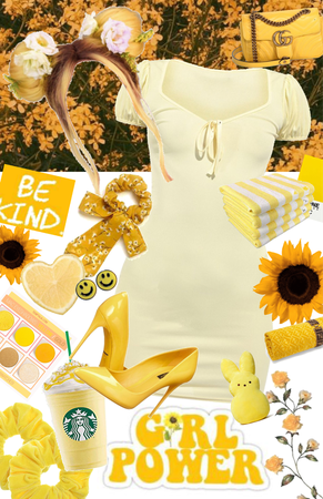 yellow/cute spring dress
