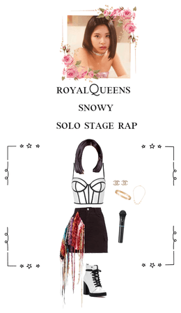 RoyalQueens👑Snowy solo stage rap performance