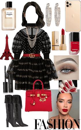Paris fashion week ❤️🖤💛