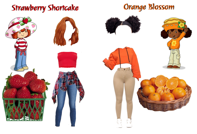 Strawberry Shortcake & Orange Blossom- Outfit