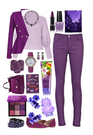 // sweater style: violet vibes //