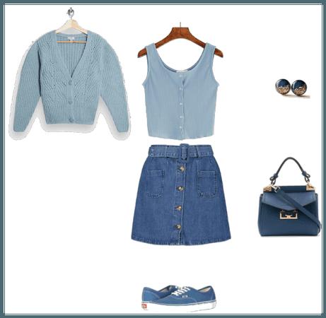Outfit inspirado en armonía monocromática soft gir