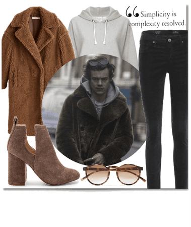 Harry Styles Brown Fur