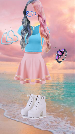 pastel pink and baby blue