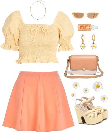 muted pastel - yellow & orange