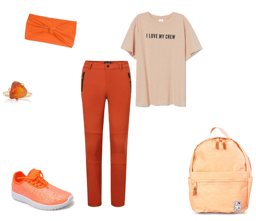 Monochromatic Peach/Orange!