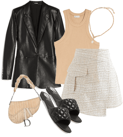 leather blazer outfit