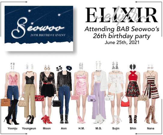 ELIXIR (엘릭서) attending Seowoo's 26th birthday party