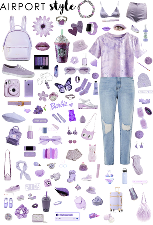 Airport style!🛩💜
