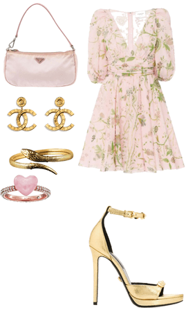 lover gold Chanel Prada gold pink