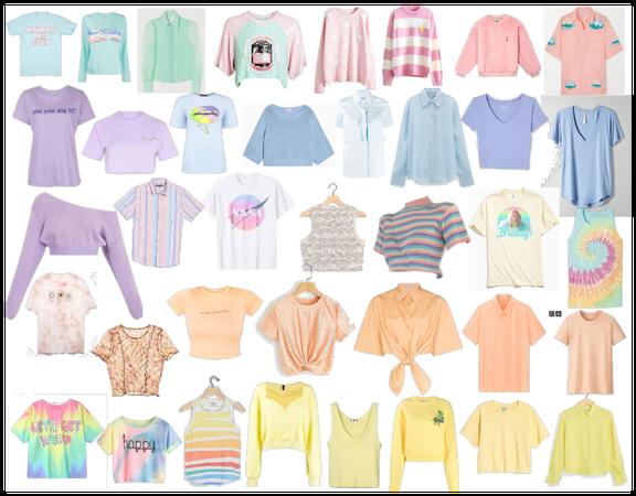 Rei's closet - pastel tops