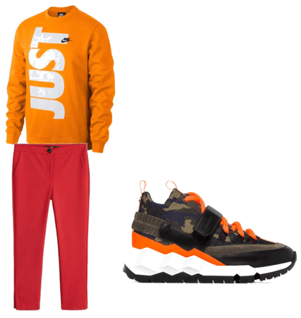 split complementary outfit