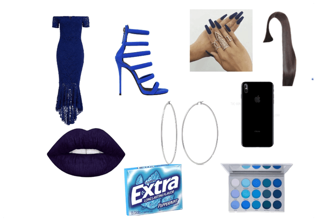 blue prom look