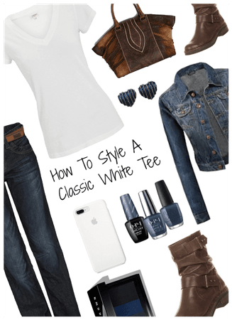 how to style a classic white tee