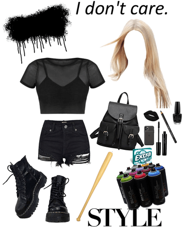 purge black outfit