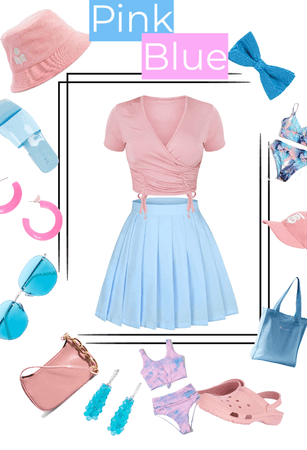 Summer in Pink and Blue(challenge)