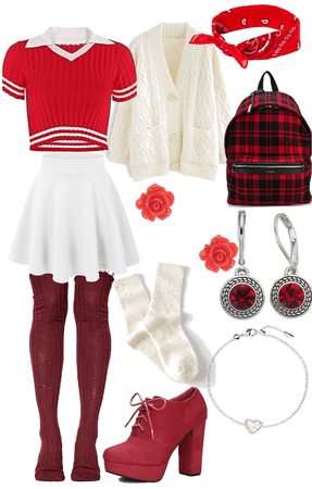 red and white look